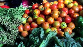 Daily Life - Cambodian Market: Varieties of Health Vegetables in Tuol Tumpong Market