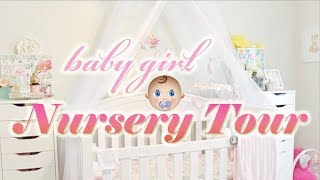 Baby Girl Nursery Tour | Shabby Chic Decor & Organization for Newborn