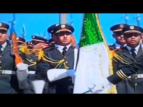 Algérie,le président Bouteflika à  El Alia,revue des  troupes