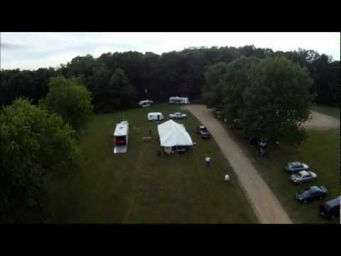 Mount Vernon Amateur Radio Club FPV multicopter flying at Field Day 2012