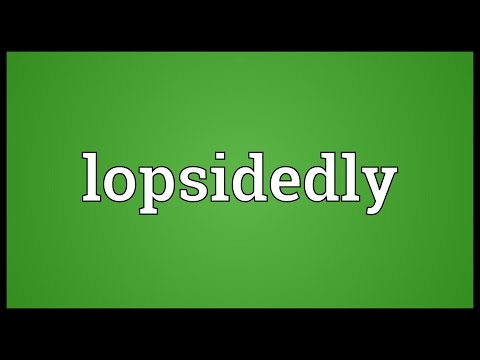 Header of lopsidedly