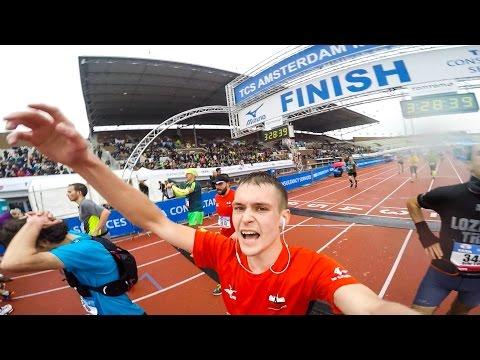 Первый марафон в Амстердаме!