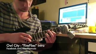 """Owl City - """"Fireflies"""" - Intro (Tapped on Electric Guitar)"""