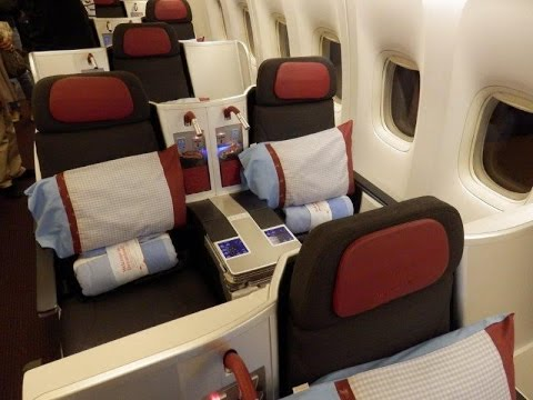 Austrian Airlines Boeing 777 business class Bangkok to Vienna (superb!)