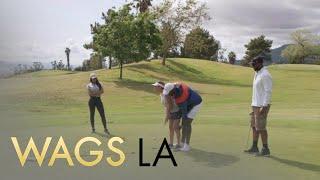 WAGS LA | Michelle Quick & Autumn Ajirotutu Hilariously Try Golfing | E!