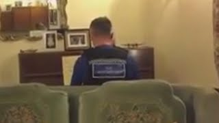 Cop Plays Piano for a 93-Year-Old Man Who He Visited After Burglary
