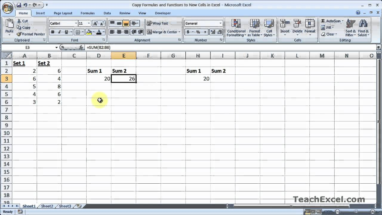 Copy Formulas And Functions To New Cells In Excel