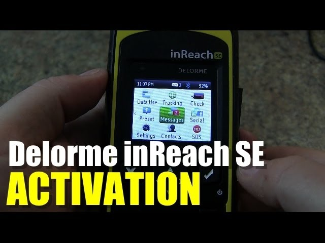 Delorme InReach SE - How to Activate (New User)