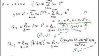 ודים גרינשטיין: פונקציות מרוכבות- נקודות סינגולריות I