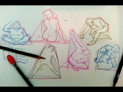 How to sketch & draw people Part 3 | What is Blocking In? How to block-in the figure