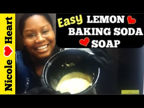 Lemon Baking Soda Soap | Body Oder Remover by Homemade Essential Projects
