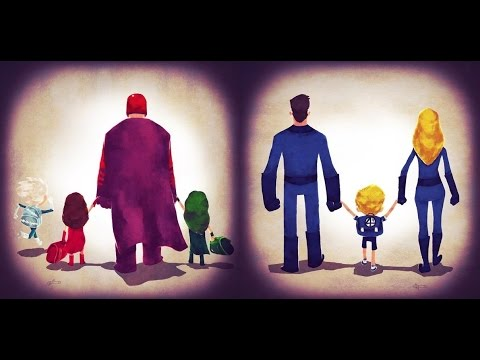 Дети героев и злодеев DC, Marvel и другие [by Кисимяка]