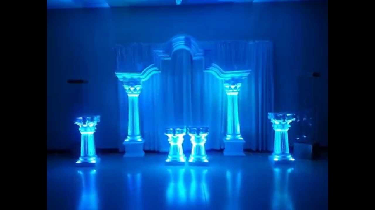 Columnas para decoracion de salones youtube for Decoracion de salon para boda