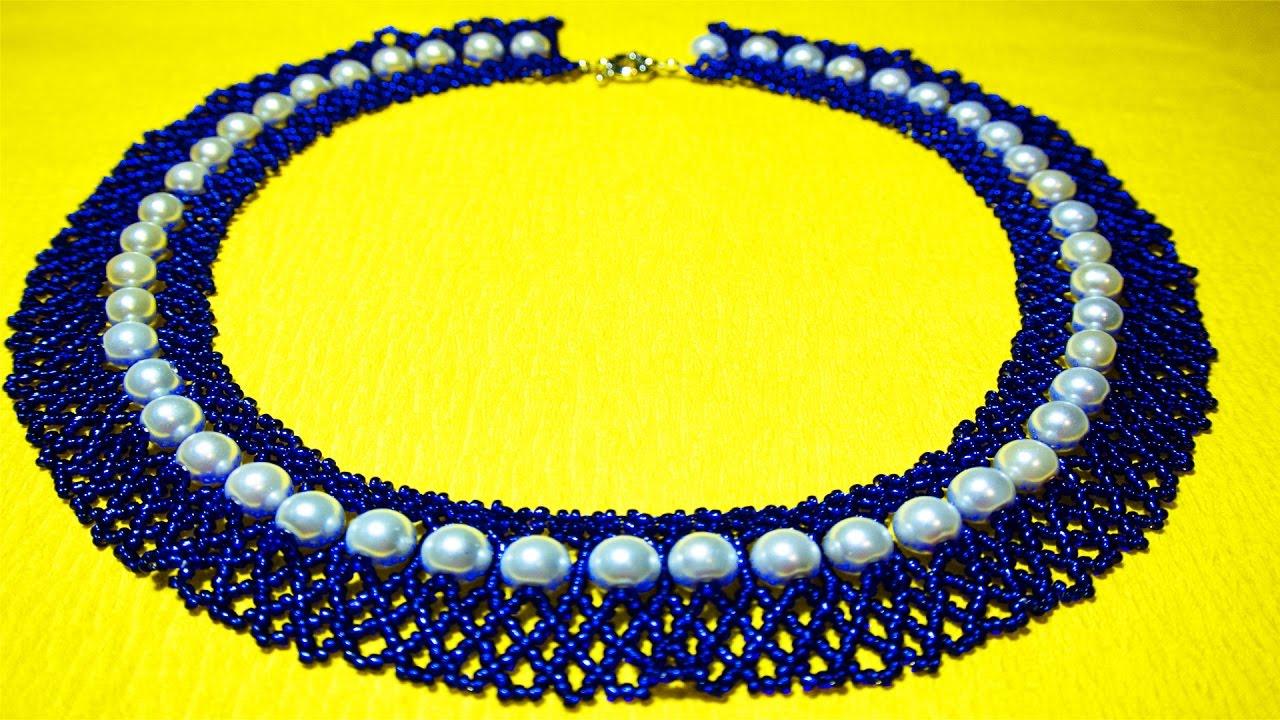 Ожерелье из бисера своими руками мастер 80