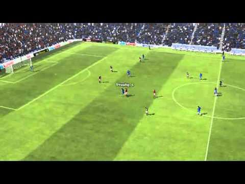 Chelsea 5 - 1 Aston Villa - Drogba Goal