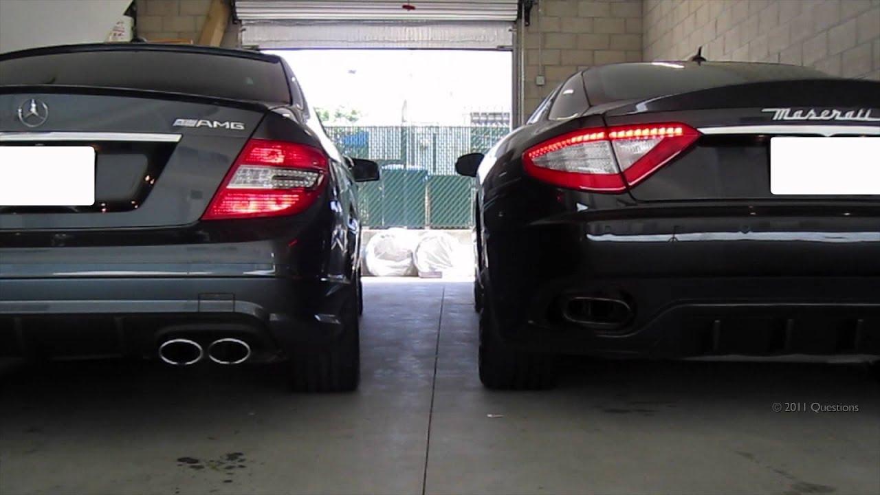 Hangisinin sesi daha iyi? Mercedes C63 AMG vs Maserati Granturismo S