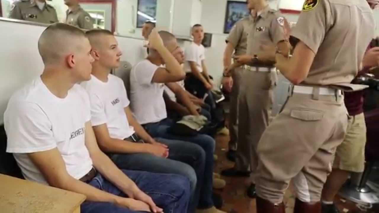 Haircut Day 2014 of Cadets Fish Haircut Day
