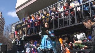 Jリーグ視聴者獲得狙い街角イベント