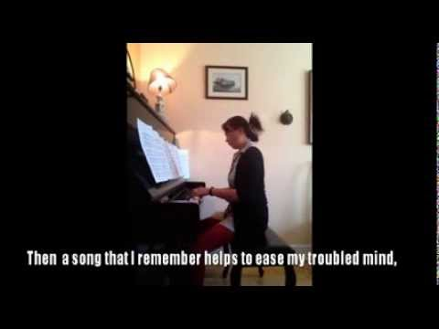 As Long As I Have Music, piano accompaniment 2013