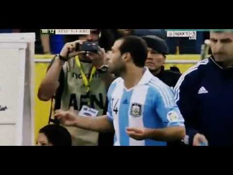 Javier Mascherano RED CARD vS Ecuador 1- 1 Argentina 11- 6- 2013 HD