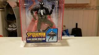 Black costumes spider-man toy biz