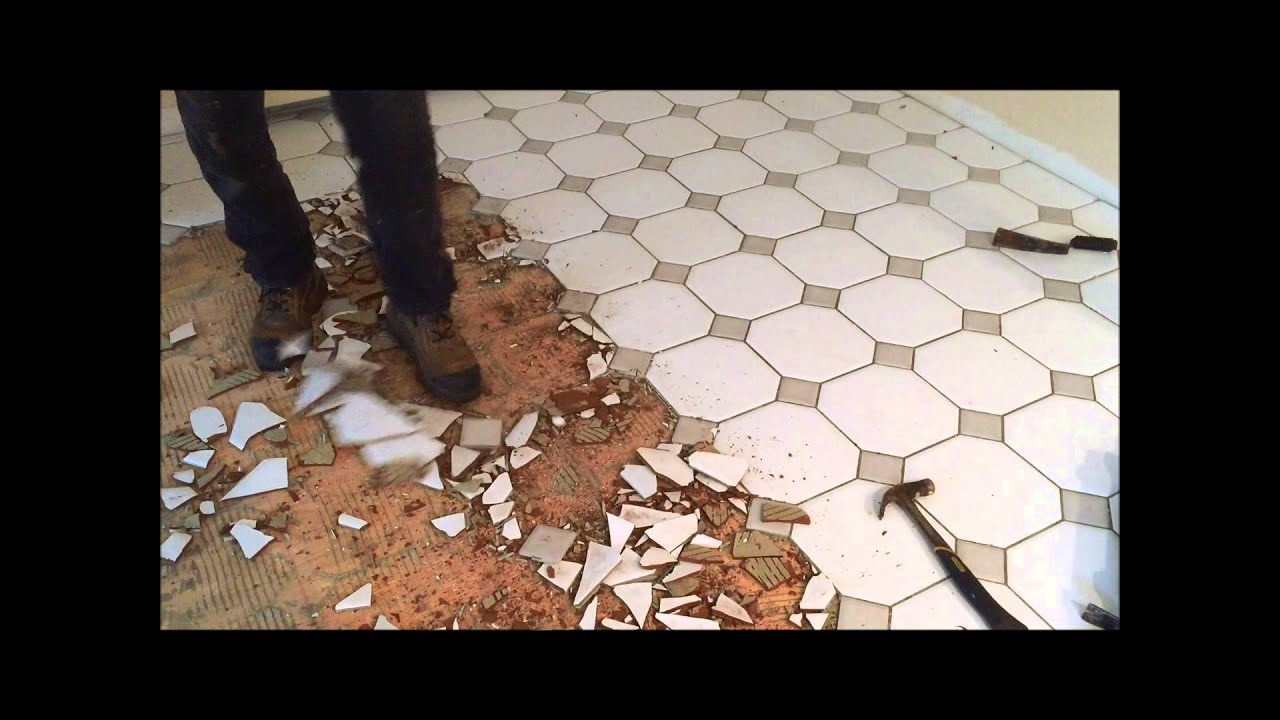 Best way to remove ceramic floor tile