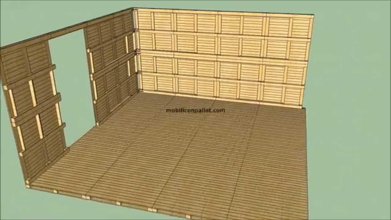 Come costruire una casa con i pallet youtube - Construire des meubles avec des palettes ...