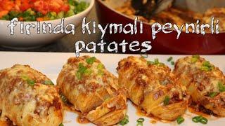 fırında kıymalı peynirli patates tarifi / kolay patates yemeği tadına doyamayacaksınız / mozzarella