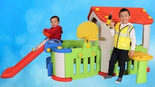 Kids Pretend Play House Building Fun With Ckn Toys