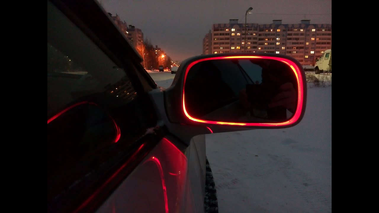 Подсветка зеркала в авто своими руками