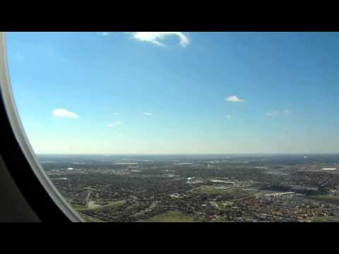 DFW HD American Airlines MD-80 Landing First Class Dallas Fort Worth Airport McDonnell Douglas