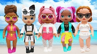 Play Doh Outfits L.O.L Surprise Doll Series 3 V.R.Q.T.  Snuggle Babe RIP Tide Angel