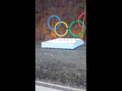 Olympic Rings Sochi Russia Krasnaya Polyana