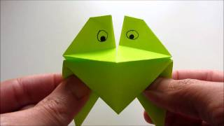 Origami Talking Frog In Action