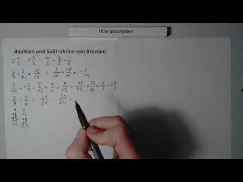 mathe-kiel Video 622  Selber rechnen: Addition und Subtraktion von Brüchen