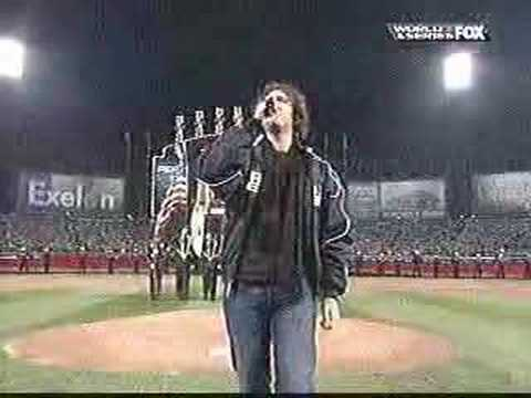 Josh Groban sings national anthem