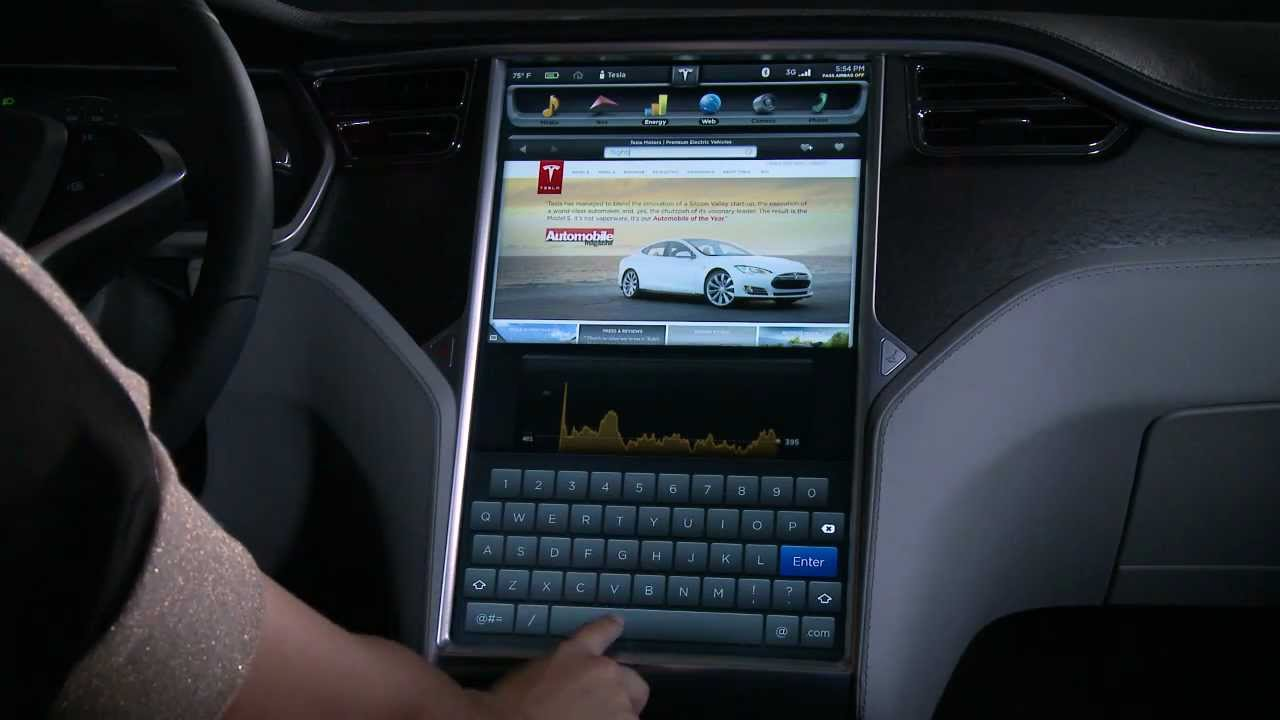 The model s 17 touchscreen display youtube for Motor trend app not working