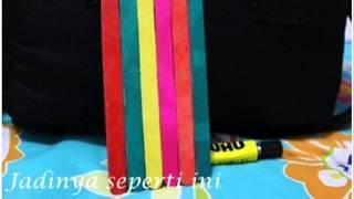 video prakarya-cara pembuatan tempat pensil dari stik es krim 01:06