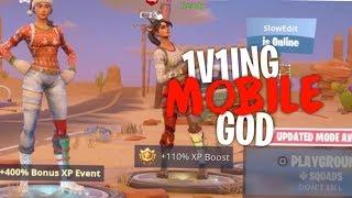 So i 1v1ed the best mobile player lol... - Fortnite