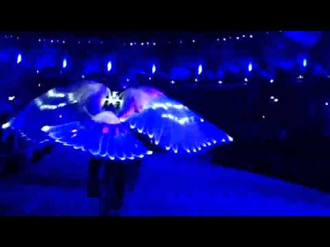 2012 Olympic Opening - Seen from the cycle dove