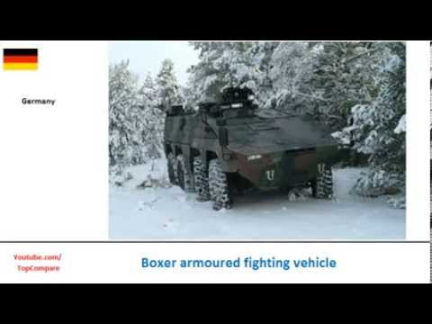 Boxer armoured fighting vehicle & Patria AMV, eight-wheeled personnel carriers Key features