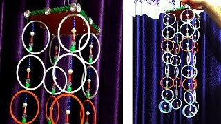 Wall hanging with old bangles | old bangle craft