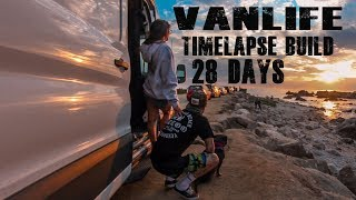 28 day time-lapse Van Build Ford Transit