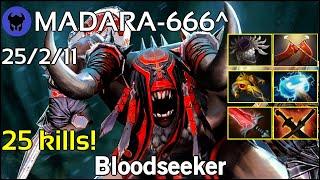 25 kills! MADARA-666^ plays Bloodseeker!!! Dota 2 7.22