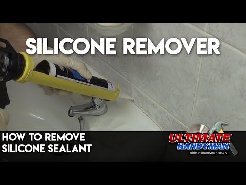 How to remove silicone sealant