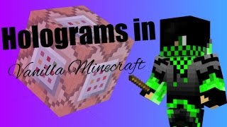 Holograms in Vanilla Minecraft! | Minecraft 1.11 Tutorial