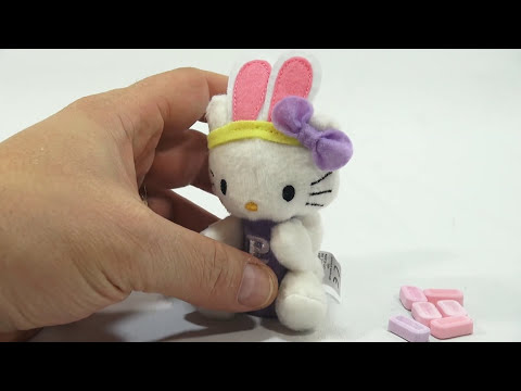 PEZ Hello Kitty Easter Bunny Plush Clip On Dispenser