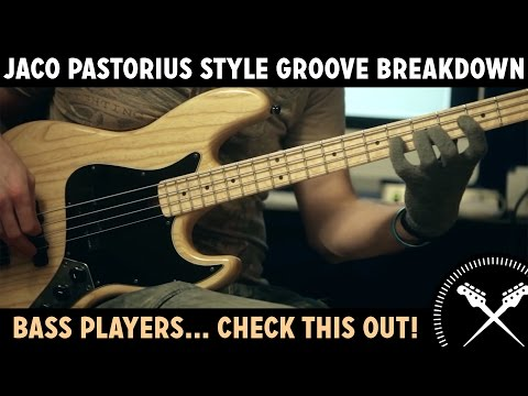 Jaco Pastorius Style Groove Breakdown - Lesson with Scott Devine