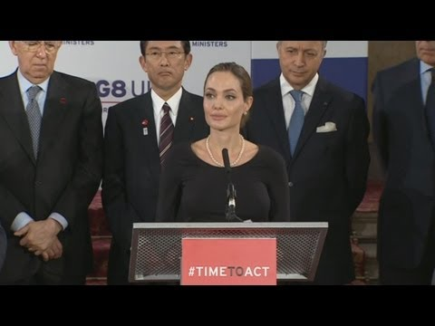 Angelina Jolie's G8 speech in London about preventing wartime rape