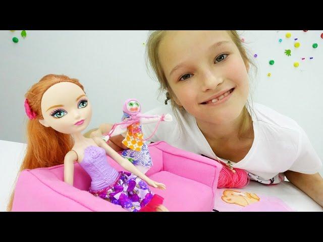 Поделки: кукла своими руками. Мастерим вместе с Холли (Эвер Афтер Хай). Рукоделие для детей.